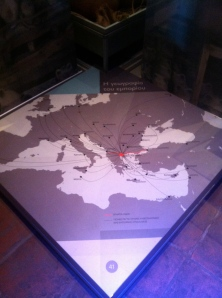 Trading routes and locations of Thessaloniki.