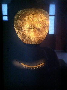 This really intrigued me. Shown is a gold death mask they used to put on the deceased.