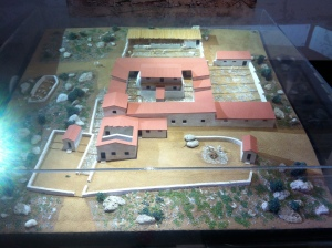 A model of a country house from Asprovalta built in the late 4th. c. B.C.