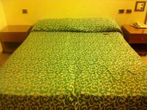 This was the bed my roommate and I shared during our stay in Hotel Florence. Clean, comfortable and spacious.
