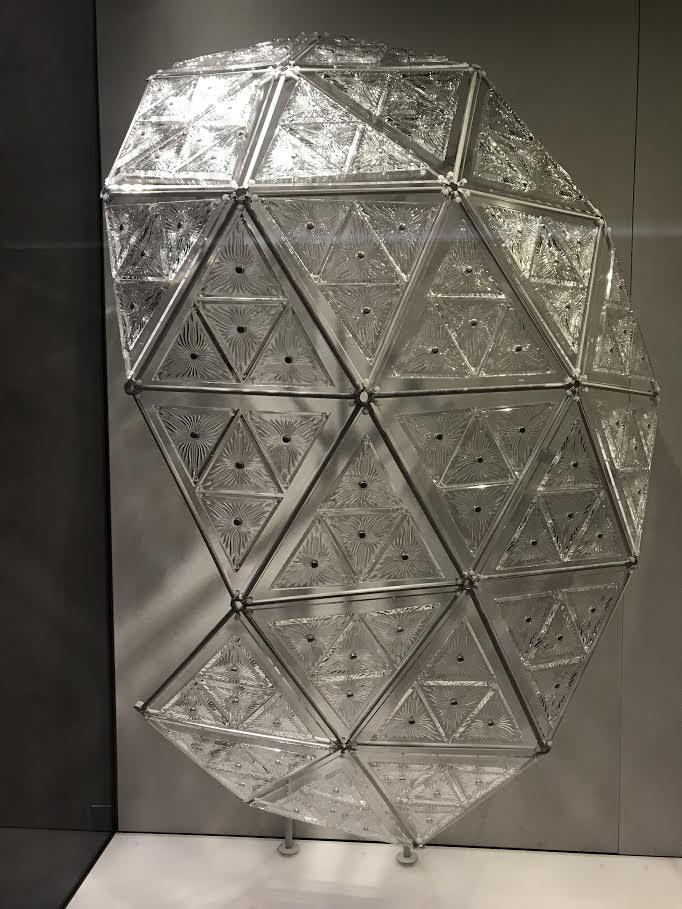 Engraved Waterford crystal triangles from the 2001 Times Square New Year's Eve Ball.jpg