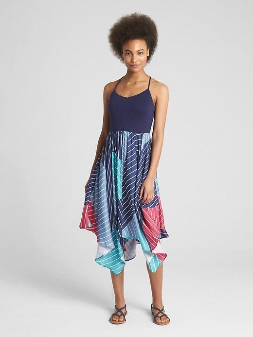 Mix-Fabric Handkerchief Midi Dress.jpg