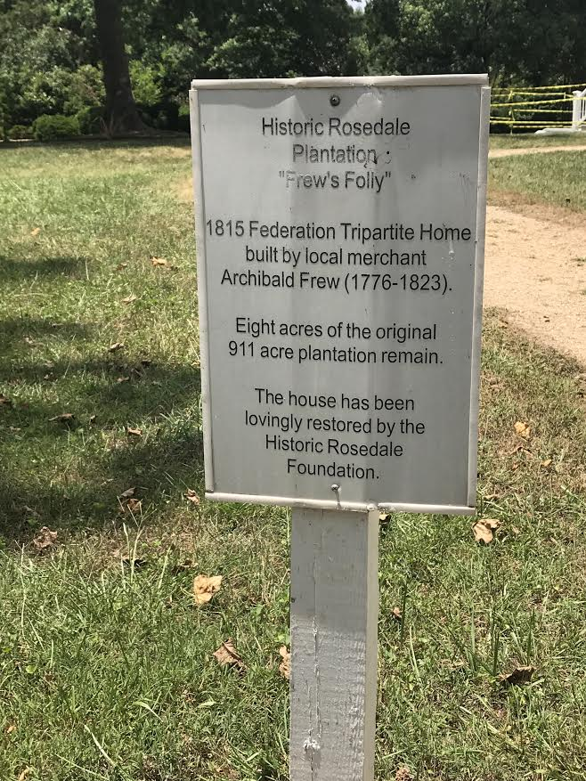 Historic Rosedale sign