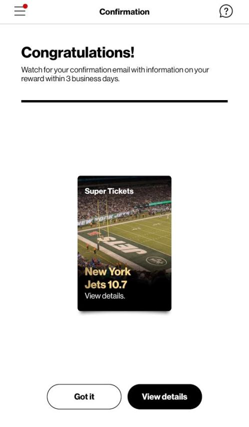 Confirmation from Verizon for Supertickets.jpeg